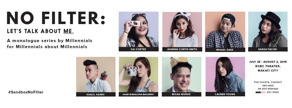 NO FILTER: A monologue series by Millenials for Millenials about Millenials
