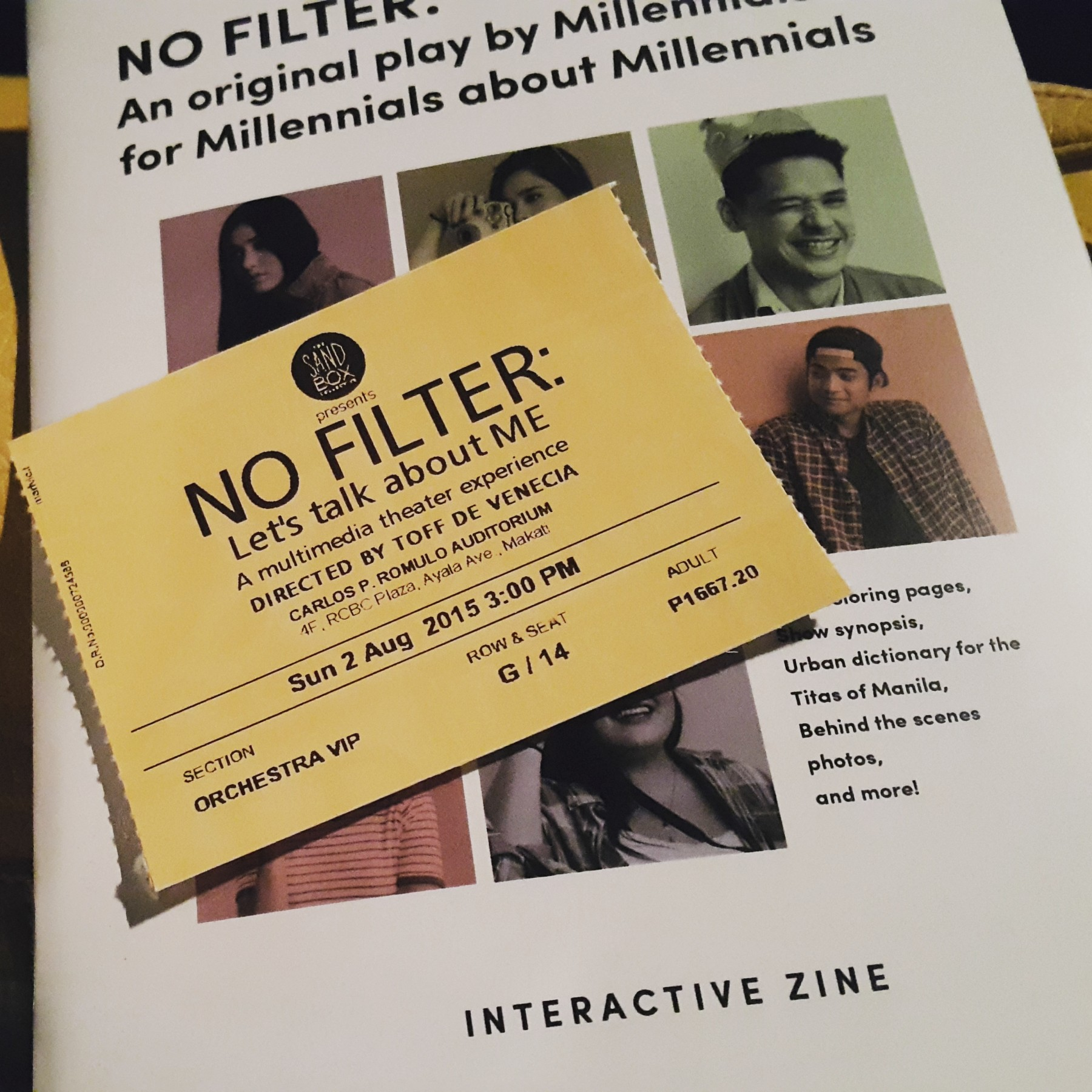 NO FILTER: An original play by Millennials about Millennials